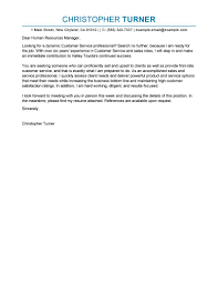 Best Customer Service Cover Letter Examples Livecareer