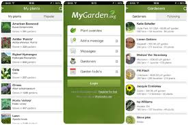 garden app. Gardener-apps Mygarden Garden App O