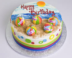 Beach Ball Cake Decorations Beach ball cake Swim party Pinterest Beach ball cake Beach 2
