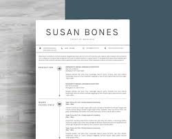 Clean Resume Template Resume Template 3 Page Cover Letter For Ms Word Instant Digital Download Nurse Resume Teacher Resume Templates