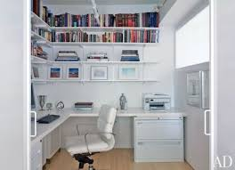 Home office space design Modern The Study Of New York Apartment Designed By Desaichia Features Aluminum Shelving By Rakks Architectural Digest 50 Home Office Design Ideas That Will Inspire Productivity