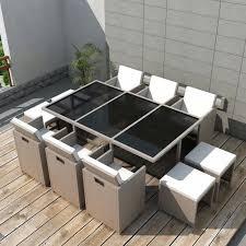 Jeu de mobilier d'extérieur 27 pcs Ensemble table chaise faute de ...