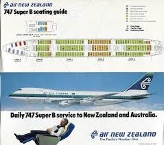 New Zealand Aviation Charts Air New Zealand 747 Seating Chart Advert Air New Zealand