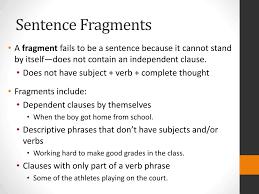 Sentence Fragments Ppt Sentence Fragments Powerpoint Presentation Id 2141054