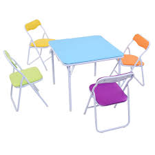 child size folding chairs. Amazon.com: Costzon 5 Piece Kids Folding Table And Chair Set Activity Set: Kitchen \u0026 Dining Child Size Chairs