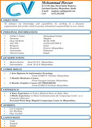 Sample Resume Format Word Luxury Cv Samples Download Pakistan Best