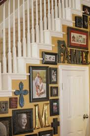 creative staircase wall decorating ideas art frames stairs