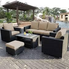 7pc outdoor patio sectional furniture pe wicker rattan 2
