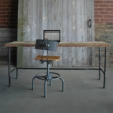 reclaimed wood office desk. modern industry reclaimed wood desk office urban goods