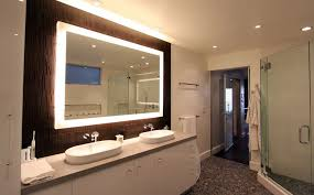 decor lighted bathroom wall mirror sinks