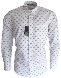 Pattern Shirts Cool Mens Blue White Scooter Pattern Button Down Shirt Relco Mr Free