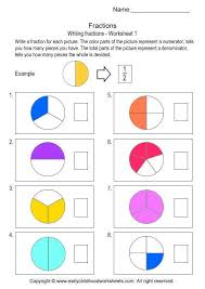 Writing Fractions - Worksheet # 1