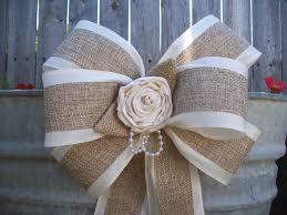 Burlap Decor Burlap And Satin Bows Burlap Wedding Aisle Decor Rustic