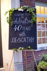 40th anniversary party ideas with 40th anniversary gift with anniversary gifts for her with ruby wedding