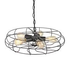 industrial metal fan ceiling light chandelier cage pendant lamp ceiling fixture