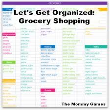 basic grocery shopping list lets get organized grocery shopping