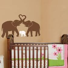 cute elephant hearts family wall decals baby nursery decor kids room