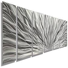 amazon com silver metal wall art beautiful etched metallic intended for remodel 9 on amazon metal wall art flowers with wall plate design silver metal art flowers regarding designs 17