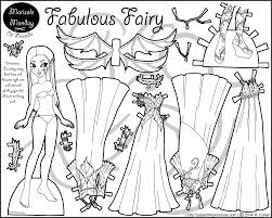 Small Picture Fabulous Fairy Paper Doll Coloring Page Dolls Puppet and Craft
