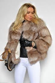 fox furs beige royal saga fox fur coat