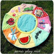 diy picnic baby playmat 12 adorable diy rug ideas and tutorials for kids