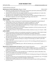 Qa Resume Sample Aircraft Maintenance And Quality Assurance Facile