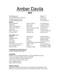 Acting Resume Examples 2016 Your Prospex