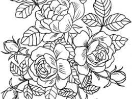 flower coloring page rose beautiful flower coloring book pages