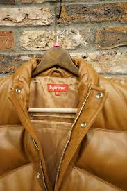 supreme シュプリーム 09aw leather puffy vest leather down vest