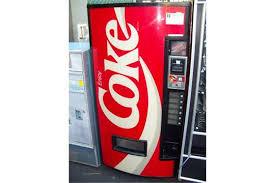 Coca Cola Vending Machine Commercial Unique VENDO BUBBLE FRONT COCA COLA MACHINE Item Is In Used Condition