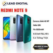 Giá bán Điện thoại Xiaomi Redmi Note 9 64GB/128GB- Bản Quốc Tế- BH điện tử  18 Tháng