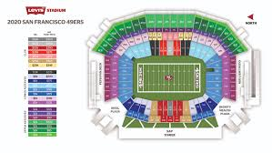 Levis Stadium Seating Chart Season Tickets Levis Stadium