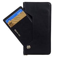 luxury leather wallet case with card holder for iphone 7 8 plus black
