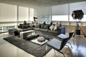Grey Sectional Living Room Contemporary With Dark Gray Sectional Sofa Dark  Gray Pillows