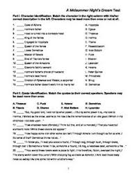 unit test for a midsummer night s dream document a midsummer night s dream test