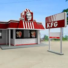 fast food restaurant buildings. Simple Fast Model 3D KFC Fast Food Restaurant Throughout Fast Food Restaurant Buildings D