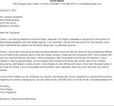 Real Estate Assistant Cover Letter Ideal Portray Sle Resume Meowings