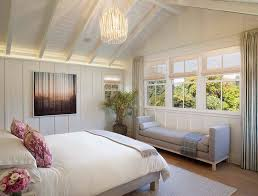 Superb San Francisco Master Bedroom Furniture Farmhouse With Paneled Ceiling  Cotton Throw Blankets Potted Plant