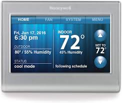 Honeywell Thermostat Comparison Chart Honeywell Rth9580wf Wi Fi Smart Touchscreen Thermostat Silver