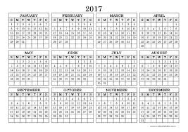 yearly calendar 2017 template 2017 yearly calendar landscape 09 free printable templates