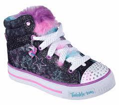 Skechers Light Up Unicorn Shoes Twinkle Toes Shuffles Unicorn Cute Toddler Girl Shoes