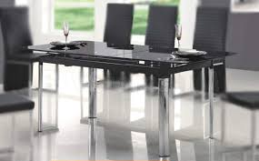 black glass top dining tables design ideas with