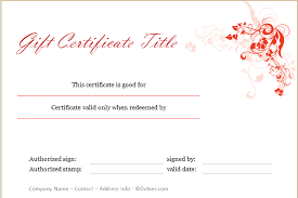 Holiday Gift Card Template Holiday Gift Certificate Template Floral Design Dotxes