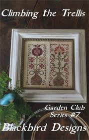 Blackbird Designs Cross Stitch Charts Climbing The Trellis Garden Club 7 Cross Stitch Chart