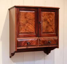 victorian mahogany wall cabinet for