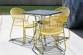 yellow patio furniture. diy patio furniture redo yellow c