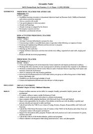 Skills For Early Childhood Education Resume Yun56Co Preschool ...