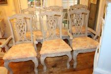 antique dining room chairs. Antique Dining Room Chairs Painted French Linen Red Gray Toile Cushions Set Of 6 D