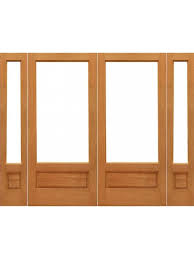 1 lite p b french brazilian mahogany wood ig glass double door sidelights
