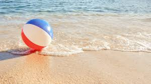 beach ball in ocean. Beach Ball At The Mercy Of Waves. Sea Dragging A Balloon And Returns It To Shore. Lost Sea. In Ocean B